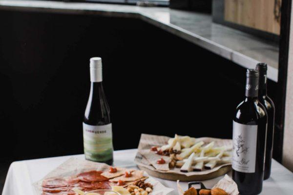 Tapas, Patatas Bravas, Cheese Platter, Wine