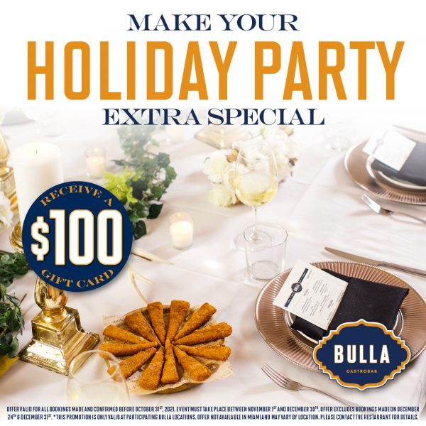 Make Your Holiday Party Extra Special - Private Dining Promo