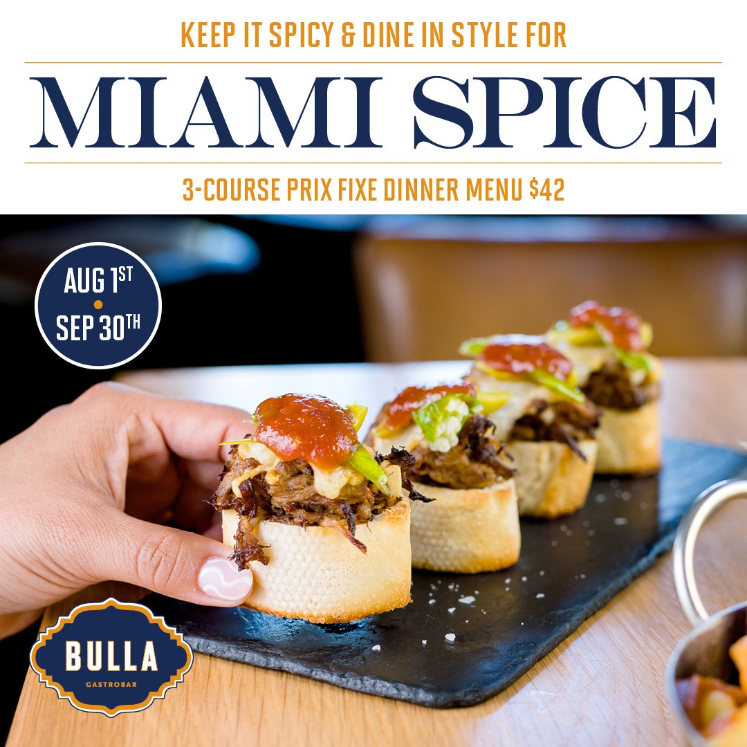 Keep it spicy and dine in style for Miami Spice