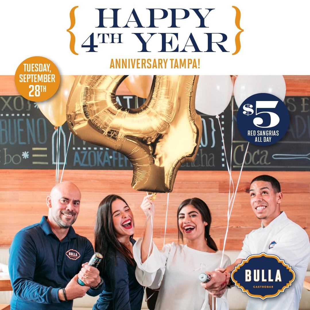 Bulla Tampa 4-Year Anniversary